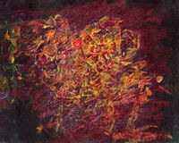 Ręka malujący akrylowy sztuki tło Obrazy Royalty Free