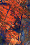 Ręka malujący akrylowy sztuki tło Fotografia Royalty Free
