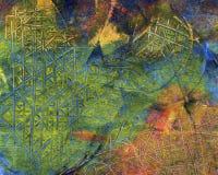Ręka malujący akrylowy sztuki tło Zdjęcia Stock