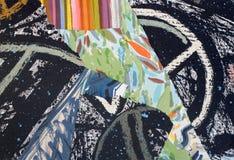 Ręka Malujący Papierowy kolaż Obrazy Stock