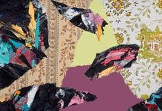 Ręka Malujący Papierowy kolaż Zdjęcie Stock