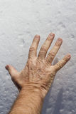 Ręka na śniegu Zdjęcia Royalty Free