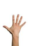 ręka na otwarta fotografia stock