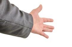 Ręka, nadgarstek, palce, kciuk, phalange, odizolowywający, tło, gwóźdź, emocje fotografia stock