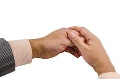 Ręka, nadgarstek, palce, kciuk, phalange, odizolowywający, tło, gwóźdź, emocje zdjęcie royalty free