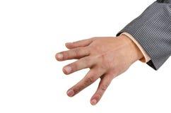 Ręka, nadgarstek, palce, kciuk, phalange, odizolowywający, tło, gwóźdź, emocje obrazy royalty free