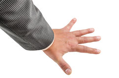 Ręka, nadgarstek, palce, kciuk, phalange, odizolowywający, tło, gwóźdź, emocje obraz royalty free