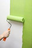 Ręka obrazu ściana w zieleni Fotografia Stock