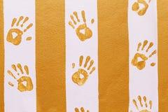 ręka odcisków ściany Obraz Royalty Free
