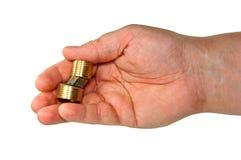 Ręka odizolowywająca. Zdjęcie Stock
