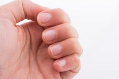 Ręka, palce i paznokcie na białym tle, Obraz Stock