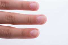 Ręka, palce i paznokcie na białym tle, Obrazy Royalty Free