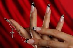 ręka piękni gwoździe Zdjęcia Royalty Free