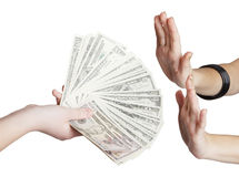 ręka pieniądze zdjęcia royalty free