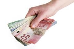 ręka pieniężna Fotografia Stock