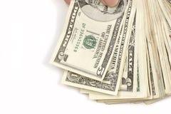 ręka pieniężna Zdjęcie Stock