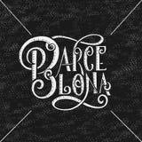 Ręka pisać miasta imię Ręki literowania kaligrafia Barcelona Ręcznie robiony wektorowy literowanie Obraz Royalty Free