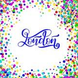 Ręka pisać miasta imię Ręki literowania kaligrafia Londyn Ręcznie robiony literowanie Obrazy Stock