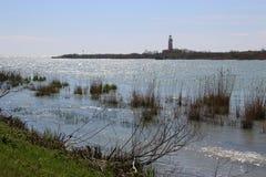 Ręka Po rzeka, Po Di Goro, płynie w Adriatyckiego morze Włochy Zdjęcia Royalty Free