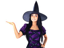 ręka pokazywać czarownica czarownicy Zdjęcia Royalty Free