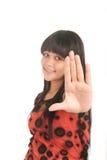 ręka pokazywać kobiety zdjęcia royalty free
