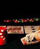 ręka pokera. Zdjęcie Stock