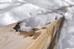 Ręka poręcz pod śniegiem Zdjęcie Stock