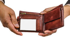 Ręka, portfel, biznes, skóra, pieniądze, nadgarstek, zakup, kryzys, sprzedaż, wekslowy tempo, finanse obraz stock