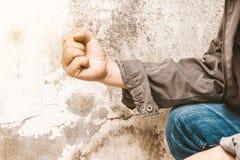 ręka przy ścianami dla tła Zdjęcie Royalty Free