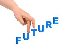 ręka przyszłościowi schodki zdjęcie royalty free