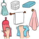 Ręka ręcznik ilustracji