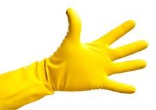 ręka rękawiczkowy lateks Obrazy Stock