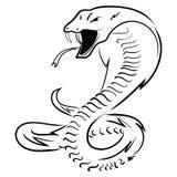 Ręka remisu królewiątka kobra również zwrócić corel ilustracji wektora Fotografia Stock
