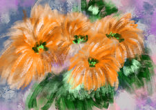 Ręka remisu kwiat royalty ilustracja