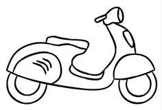 Ręka remisu styl nowa motocykl ilustracja dla kolorystyki książki obraz stock