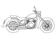 Ręka remisu styl wektorowa nowa motocykl ilustracja dla kolorystyki książki Fotografia Stock