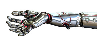 ręka robot ilustracji