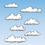 Ręka Rysować Chmury ilustracji