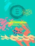 Ręka rysująca abstrakcjonistyczna textured kreatywnie cechy ogólnej karta Poślubiający, rocznica, urodziny, walentynki ` s dzień, ilustracja wektor