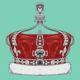 Ręka rysująca ilustracja korona royalty ilustracja