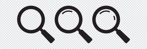 Ręka rysująca kierowa wektorowa iconSearch ikona Powiększający - szklana ikona, wektorowy magnifier lub loupe znak, ilustracja wektor