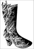 Ręka rysująca kobieta buta ilustracja Fotografia Royalty Free