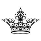 Ręka rysująca korona Rocznik grawerująca ilustracja Obrazy Stock