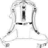Ręka Rysująca Kreskowa sztuka Packpack /eps Fotografia Royalty Free