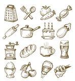 Ręka rysująca kuchnia ilustracja wektor