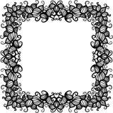 Ręka rysująca kwiecista wzór rama Fotografia Royalty Free