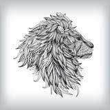 Ręka Rysująca lew ilustracja Obrazy Royalty Free