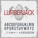 Ręka rysująca lumberjack chrzcielnica Obrazy Stock