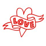 Ręka rysująca miłość pisze list ilustrację Zdjęcie Stock