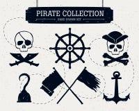 Ręka rysująca pirat kolekcja elementy Obraz Royalty Free